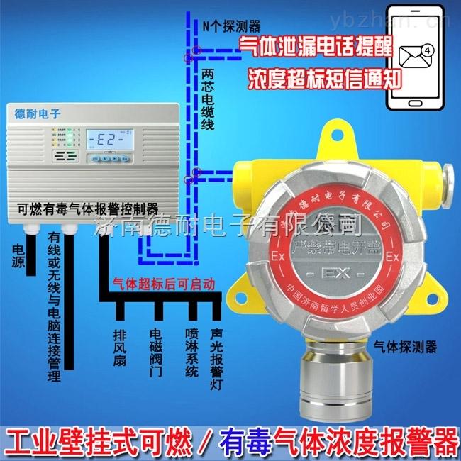 學校餐廳天然氣氣體泄漏報警器,可燃氣體報警器控制器能帶幾個探頭