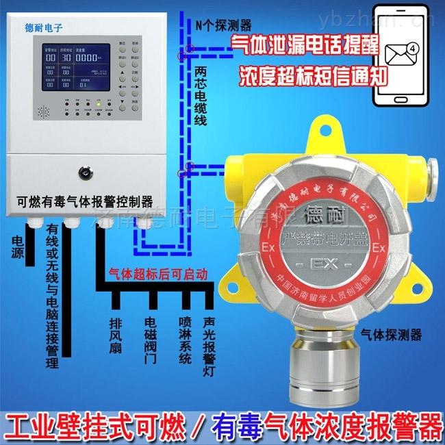 化工廠倉庫氟化氫氣體報警器,可燃氣體報警裝置探頭多久更換傳感器