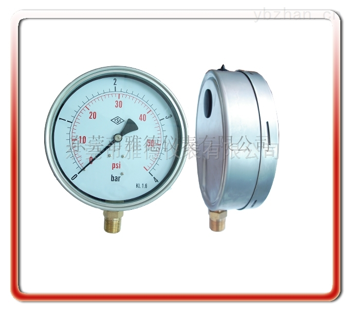 150UL-LA01-150MM径向耐震压力表