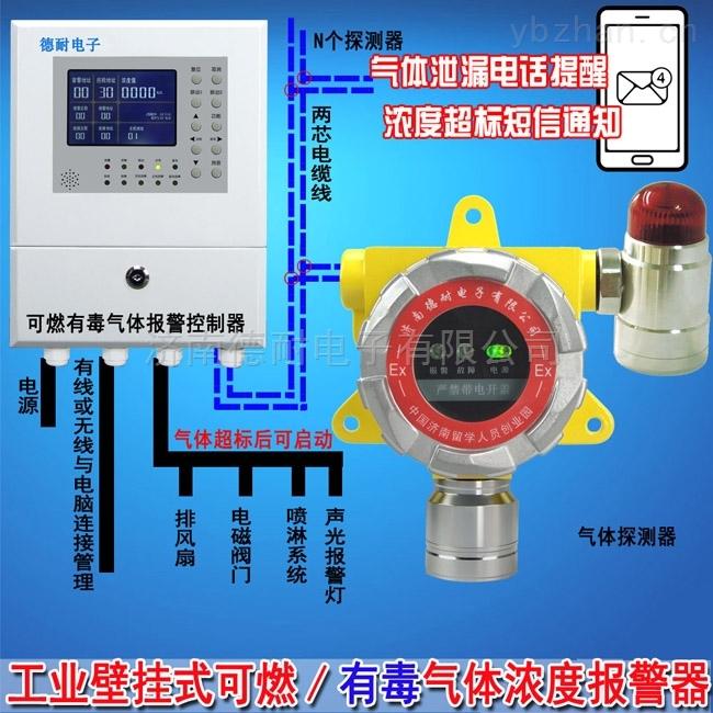 固定式原油泄漏報警器,可燃氣體報警裝置與防爆電磁閥門怎么連接