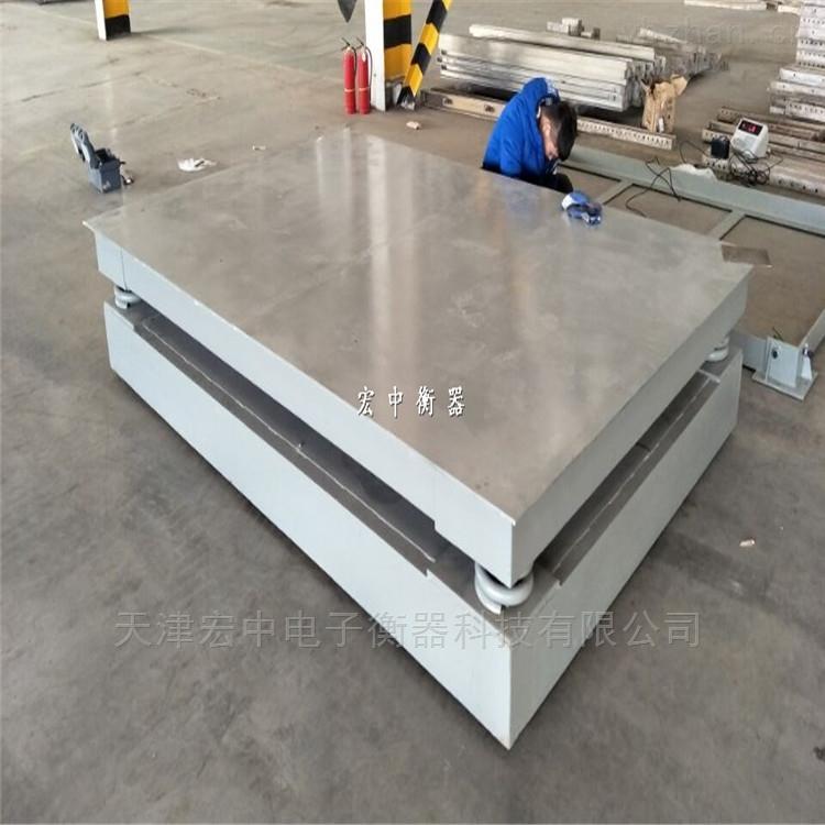 称钢卷用地磅秤1.5米*1.5米缓冲秤