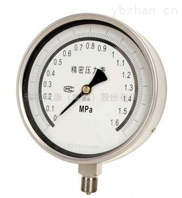 YB-150A/B-耐震型雙針精密壓力表