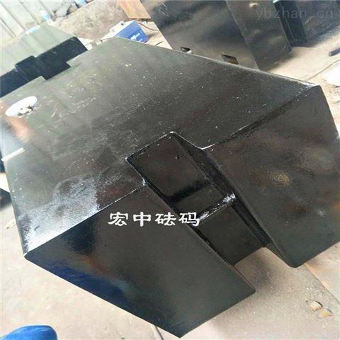 长方形1吨铸铁砝码吊机配重 1吨标准砝码