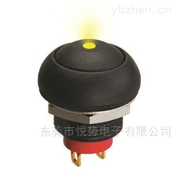 PYCF-小型復位按鈕開關IP68防水帶燈