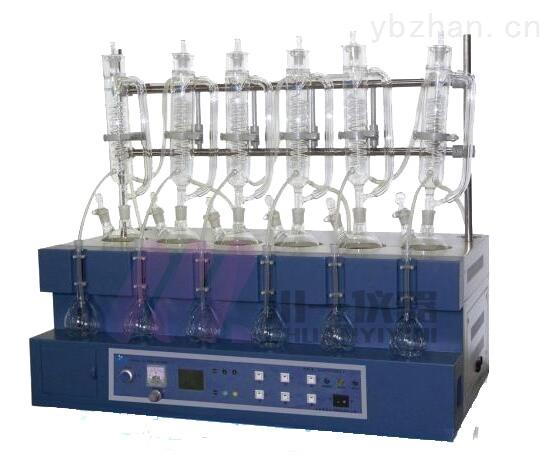 臺式一體化蒸餾儀CYZL-6Y同時萃取蒸餾裝置