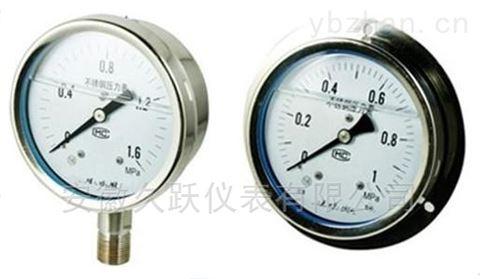 不锈钢(耐震)压力表Y-B系列
