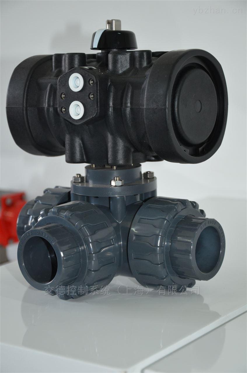 气动塑料三通球阀