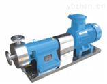 LHX1單級管線式均質乳化泵