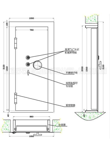 家用防彈门制作草图